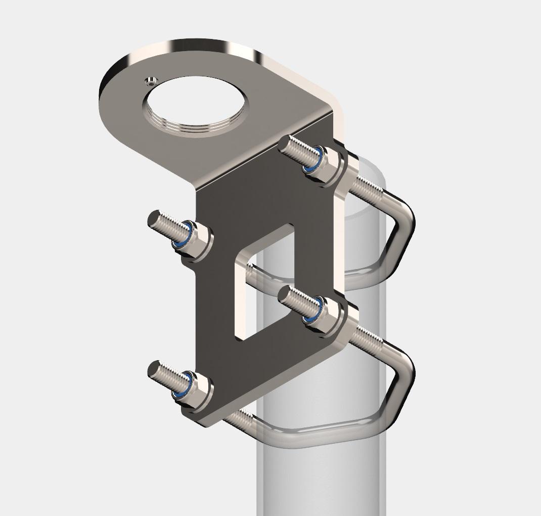 "Bracket Mount (1.5"" to 2.5"" tube), Antenna Unit"
